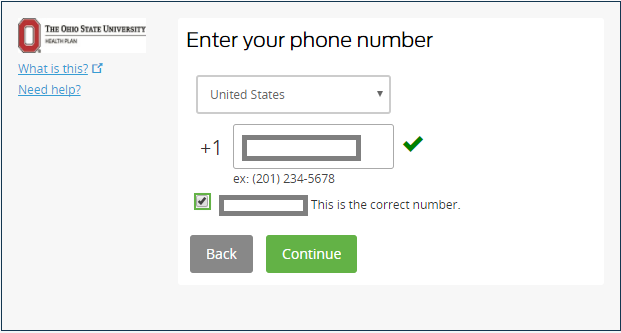 Mobile device phone number completed